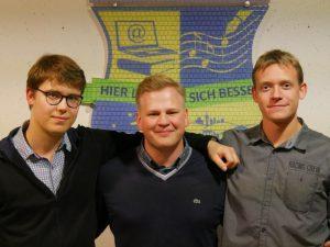 Lars Peters, Christian Jacob & Simon Kühnicke - Vorstände des Alumniverein